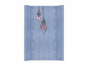 Přebalovací podložka Ceba, tvrdá - na postýlku 120x60 cm, Denim Catcher - jeans, 50x70cm