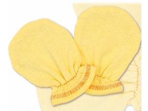 Rukavičky bavlna Terjan - krém, vel. 1