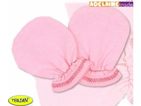Rukavičky bavlna Terjan - růžové