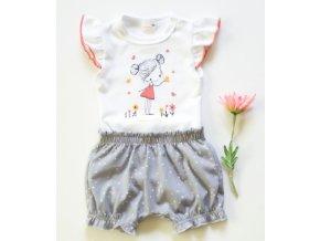 K-Baby 2 dílná dětská sada, body s kraťasky Girl