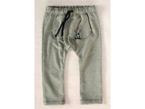 K-Baby Stylové dětské kalhoty, tepláky s klokankovou kapsou - šedé