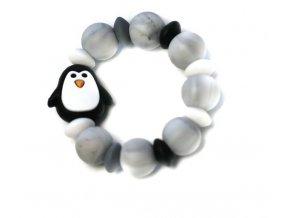 Mimijo Silikonové kousátko tučňák - černé
