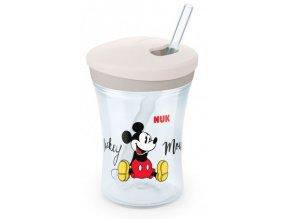 Nekapající hrneček NUK Action Cup se slámkou, 230 ml - Mickey