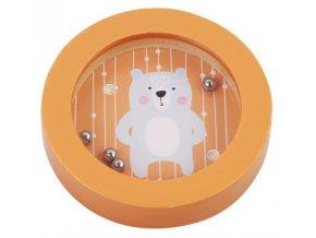 Adam Toys Balanční hra, mini labyrint - medvěd