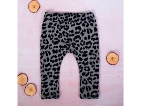 K-Baby Dívčí legíny Gepardík, šedo-černá