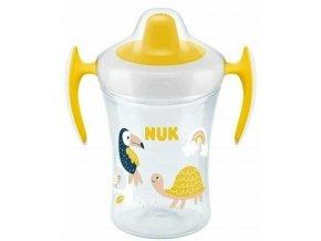 Nekapající hrneček NUK Evolution Trainer Želvička 230 ml, žlutý