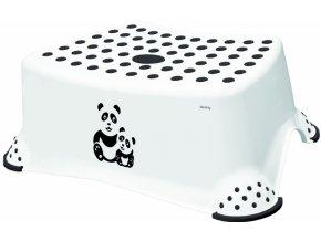 Keeeper Stolička, schůdek s protiskluzovou funkcí - Panda, bílý