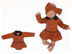 Z&Z Sukničkobody dlouhý rukáv s límečkem - čokoladové