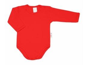 G-baby Dětské body dlouhý rukáv - červené
