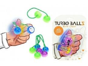 Fidget Turbo ballz plast na baterie se světlem asst 4 barvy na kartě 12x17cm
