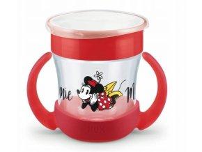 Hrneček NUK Mini magic Cup s úchyty Minnie, červený, 6 m+