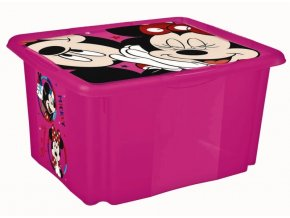Keeeper Box na hračky Minnie Mouse 24 l - malinový