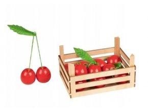 Goki Dřevěný košík s třešněmi