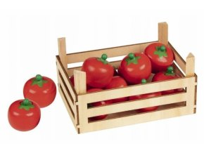 Goki Dřevěný košík s rajčaty