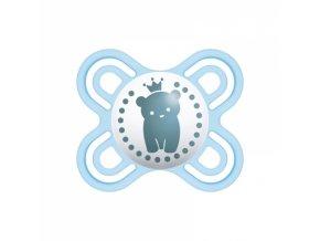 Mam Symetrický dudlík Perfect start 0 - 2 m - Medvídek, modrý