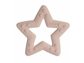 BIBS Baby Bitie Star Blush - Silikonové kousátko Hvězdička - pudrová