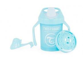 Nekapající hrneček Twistshake se sítkem, 4m+, 230ml, modrý