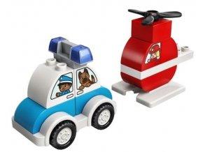 Lego Duplo - Hasičský vrtulník a policejní autíčko