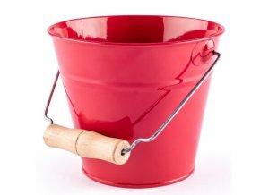 Woody Plechový kyblík na písek - červený