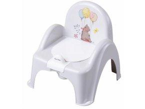 Tega Baby Nočník/židlička Medvídek - šedý