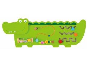 Viga Dřevěná nástěnná hra - Krokodýl