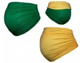 Be MaaMaa Těhotenský pás DUO - zelená se žlutou