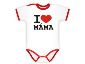 Baby Dejna Body kr. rukáv I love Máma, K19