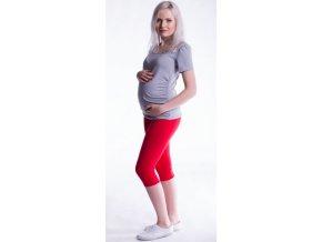 Be MaaMaa Těhotenské barevné legíny 3/4 délky - červená