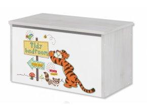 BabyBoo Box na hračky, truhla Disney - Medvídek PÚ a tygřík, D19