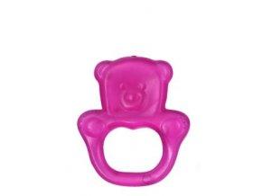 BabyOno Kousátko gelové Baby Ono Medvídek - Růžové