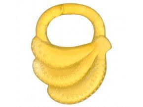 BabyOno Kousátko gelové Baby Ono Banán - Žluté
