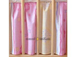 Mamo Tato Krásný volánek pod matraci - Medvídek růžový