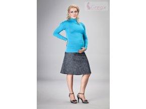 Gregx Elegantní těhotenská sukně DENIM - granát
