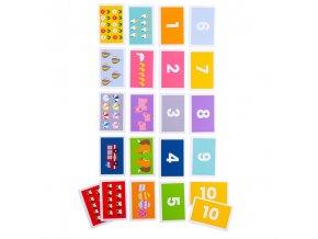 Bigjigs Toys Přiřaď kartičky 1-10