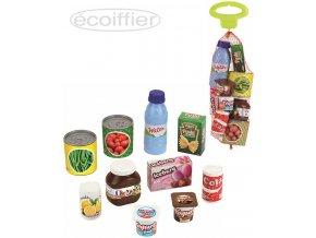 ECOIFFIER Potraviny plastové dětské makety jídlo set 10ks v síťce