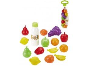 ECOIFFIER Baby ovoce a zelenina set 15ks makety potravin v síťce