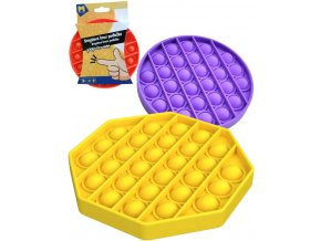 Hra Pop It antistresová Bubble Pops silikon oktagon/kruh 4 barvy *SPOLEČENSKÉ HRY*