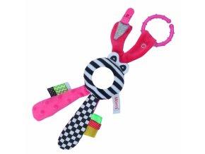 Hencz Toys Edukační hračka Hencz s chrastítkem - Zajíček - zrcátko -růžový