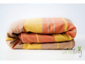Little FROG Tkaný šátek na nošení dětí s vlnou MERINO - Citrine