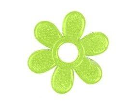 BabyOno Kousátko gelové Baby Ono Kytička - zelené