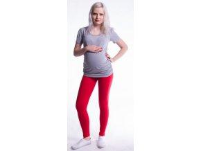 Be MaaMaa Těhotenské legíny - červené
