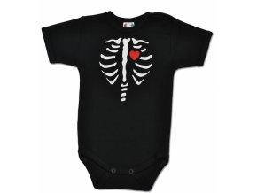 Baby Dejna Body krátký rukáv RED HEART - černé