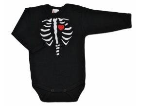 Baby Dejna Body dlouhý rukáv RED HEART- černé