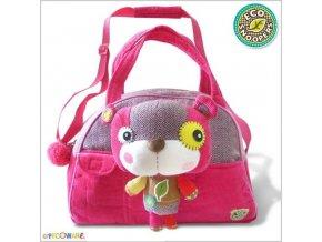 EcoSnoopers Stylová dětská taška Medvídek - růžový