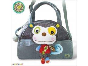 EcoSnoopers Stylová dětská taška Opička - šedá