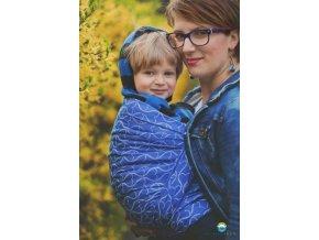 Little FROG Žakárový tkaný šátek na nošení dětí - Blue Hourglasses