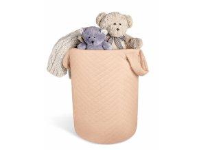Box na hračky Velvet lux Miminu, prošívaný - meruňkový