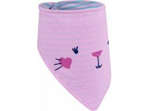 Dětský šátek na krk YO ! - sv. růžová