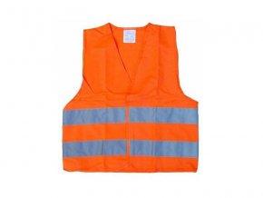 Reflexní výstražná vesta oranžová dětská COMPASS 01513