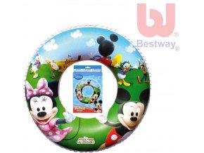 BESTWAY Nafukovací dětský plavací kruh Minnie a Mickey Mouse 56cm do vody